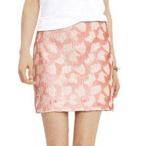 Banana Republic Sequin Dot Mini Skirt Pink 14
